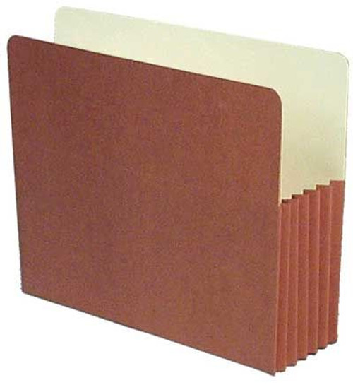 "Redweld File folder with 5.25"" Accordion Expansion, Paper Gusset, Letter Size, Carton of 50"