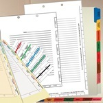 Divider Sheets & Tabs- Medical & Legal