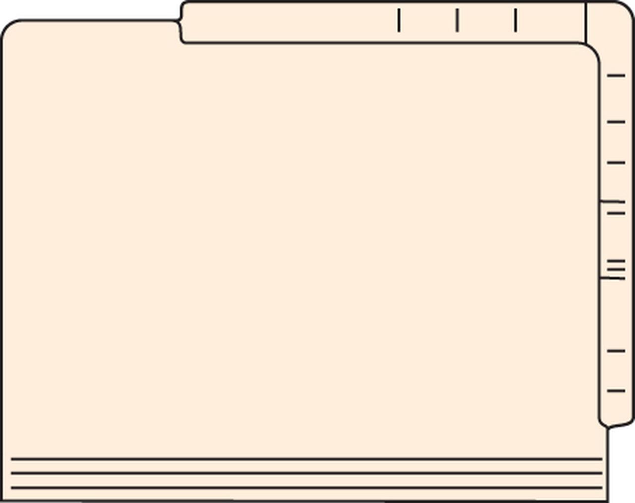 Dual Top & Side Tab Folders