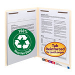 100% Recycled End Tab Fastener Folder