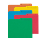 Colored File Folders with Reversible Tab