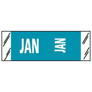 "Month Labels - 11880 Series - 1/2"" H x 1-1/2"" W"