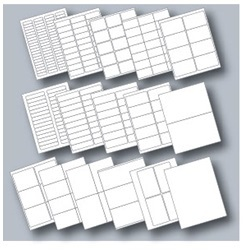 Avery Compatible Laser/Inkjet Blank Label Sheets