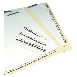 Numeric Exhibit Index Tabs