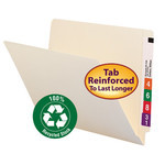 100% Recycled End Tab Folders with Shelf-Master