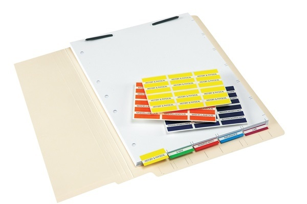 52100 Series Patient Chart Index Tabs and Sheets