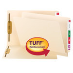 TUFF Laminated End Tab Fastener Folder