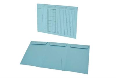 Gussco US Trademark Application - Lt  Blue - Top Tab - Tri-Fold Design,  25/Box