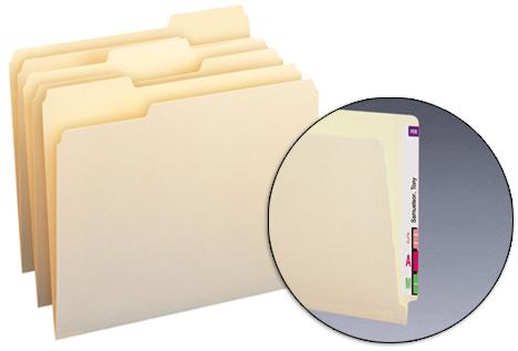 Folder Tab Position