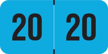 Medical Arts Press TAB Small Compatible Orange End-Tab Year Labels; 2020 250//pk