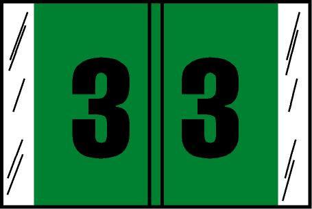 Tabbies Original COL'R'TAB Digi-Kolor Numeric 14560 Labels, Light Green,  1