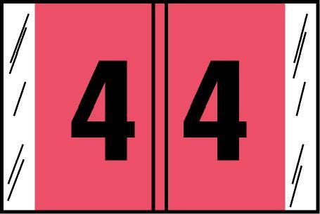 Tabbies Original COL'R'TAB Digi-Kolor Numeric 14560 Labels, Pink, 1