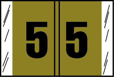 Tabbies Original COL'R'TAB Digi-Kolor Numeric 14560 Labels, Gold, 1