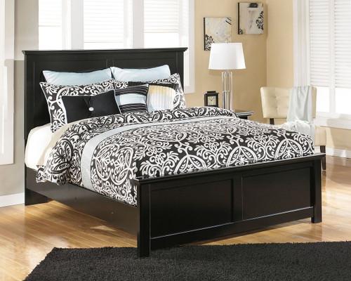 Maribel Black Full Panel Bed