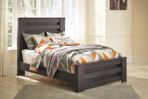 Brinxton Black Full Panel Bed