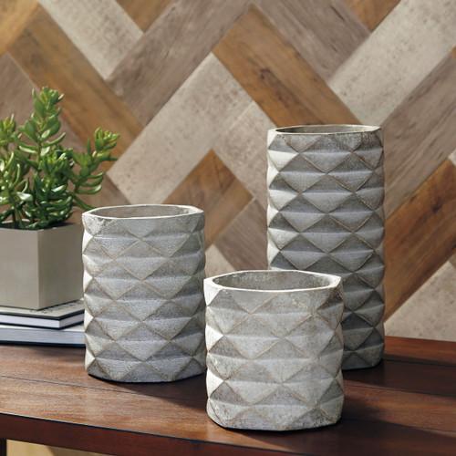 Charlot Gray Vase Set (3/CN)