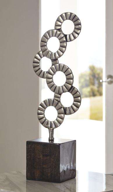 Brevyn Black/Silver Finish Sculpture