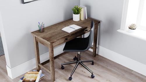 Arlenbry Gray Home Office Desk & Swivel Desk Chair