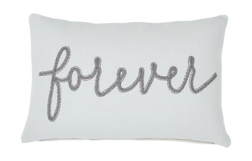Forever White/Gray Pillow (4/CS)