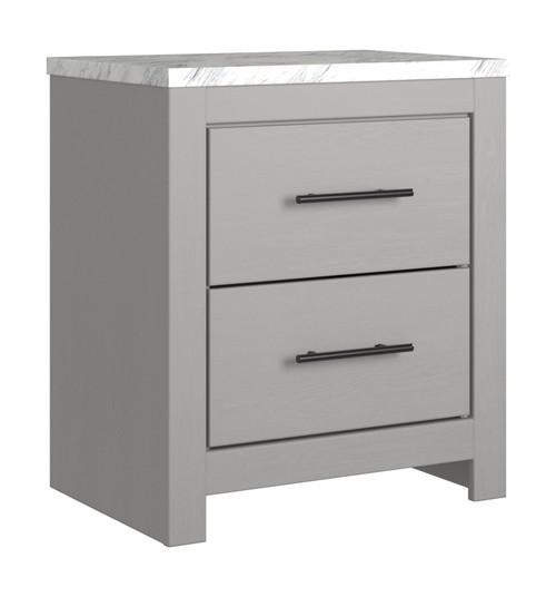 Cottenburg Light Gray/White Two Drawer Night Stand