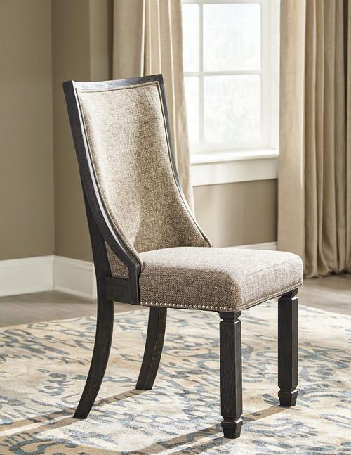 Tyler Creek Black/Grayish Brown Dining Upholstered Side Chair(Set of 2)