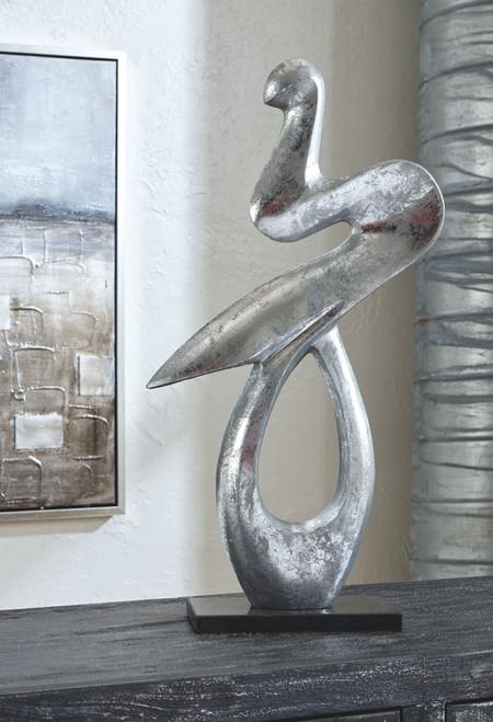 Devri Black/Silver Finish Sculpture