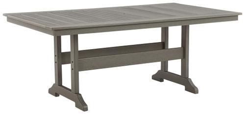 Visola Gray Rectangular Dining Table w/UMB OPT
