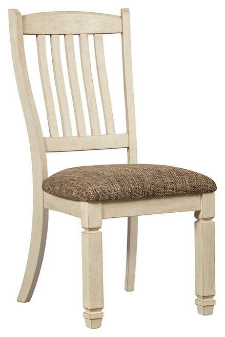 Bolanburg Brown / Beige / White Dining Upholstered Side Chair (Set of 2)