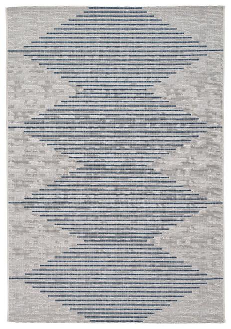 Alverno White/Blue Medium Rug