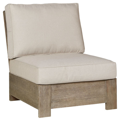 Silo Point Brown Armless Chair w/ Cushion