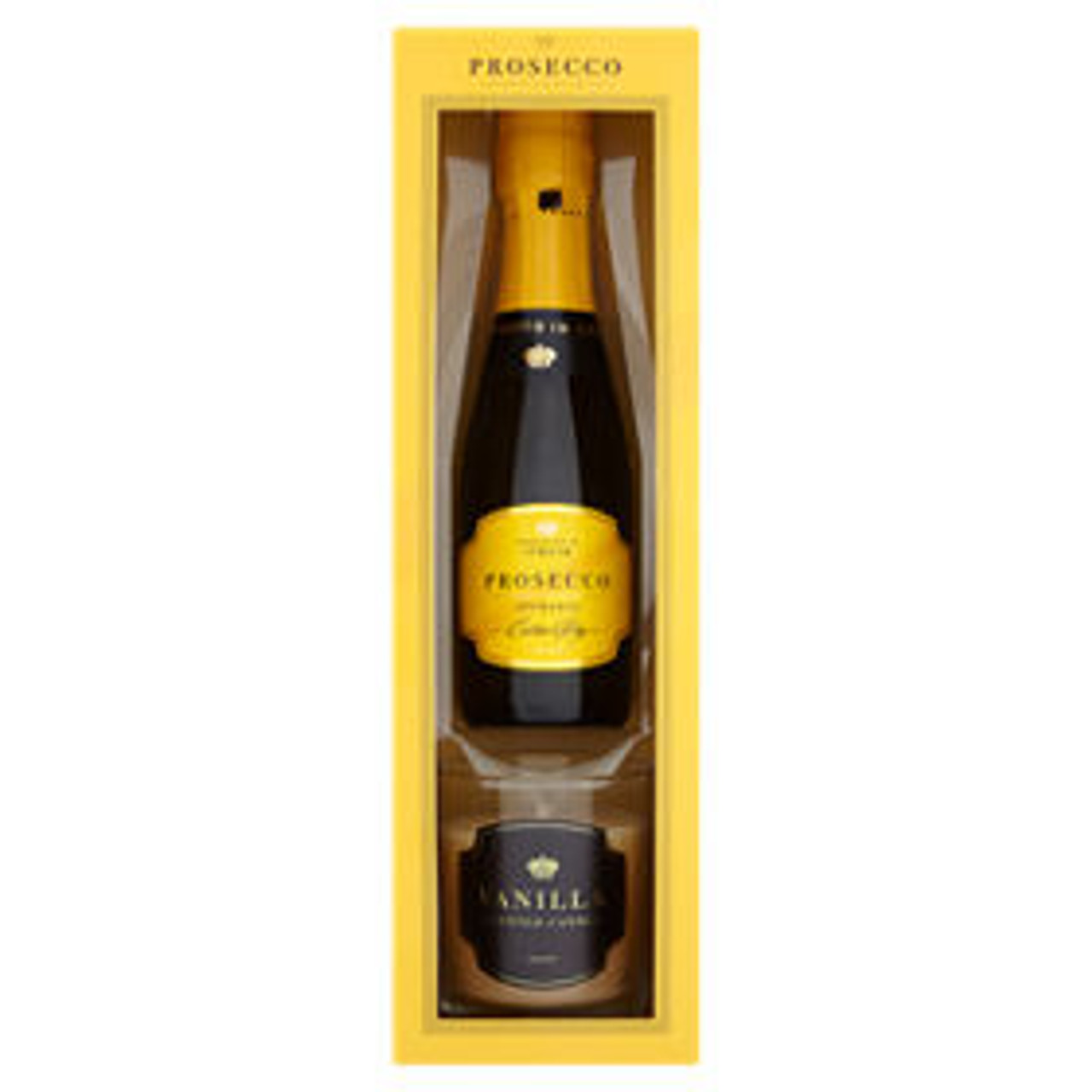 Prosecco Vino Spumante Extra Dry 20cl Vanilla Scented Candle Gift Set Champagne One