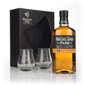 Highland Park 12YO 2 Glasses (70cl)