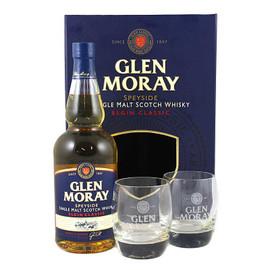 Glen Moray Classic Glass Pack 2 x Glasses (70cl)