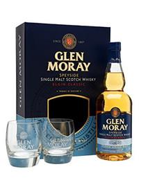 Glen Moray Peated Glass Pack 2 x Glasses (70cl)