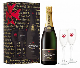 Lanson Black Label NV x 2 Flute Pack (75cl)