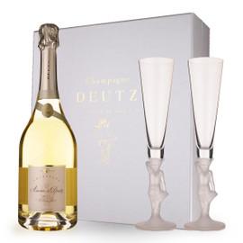 Amour de Deutz Blanc de Blancs 2005 Glass Gift Set (75cl)