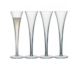 LSA Aurelia Champagne Flutes Clear Optic 200ml (Set of 4)