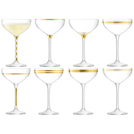 LSA Deco Champagne Saucer 235ml (Set of 8)