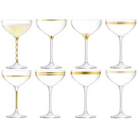 LSA Deco Champagne Saucer 235ml (Set of 8)