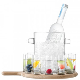 LSA Paddle Vodka Serving Set and Oak Paddle 70ml