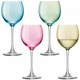 LSA Polka Wine Glass 400ml (Set of 4)