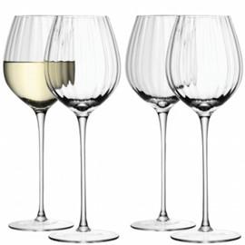 LSA Aurelia Wine Glass Clear Optic 430ml (Set of 4)