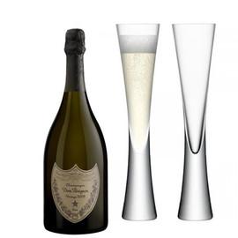 Dom Perignon 2010 (75cl) with x2 LSA Moya Champagne Flutes