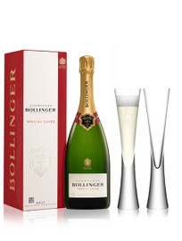 Bollinger Special Cuvee NV (75cl) With x2 LSA Moya Champagne Flutes