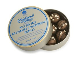 Charbonnel et Walker Milk Sea Salt Billionaires Shortbread Truffles (125g)
