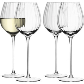 LSA Aurelia White Wine Glass 430ml Clear Optic x 4
