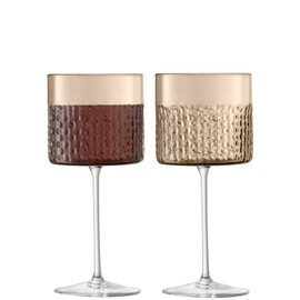 LSA Wicker Wine Glass 320ml Taupe x 2