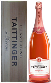 Taittinger Brut Prestige Rose NV Jeroboam In Wood Box (3Ltr)