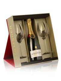 Bollinger Special Cuvee In Red Gift Box With 2 Elizabeth Glasses (29cl) NV (75cl)