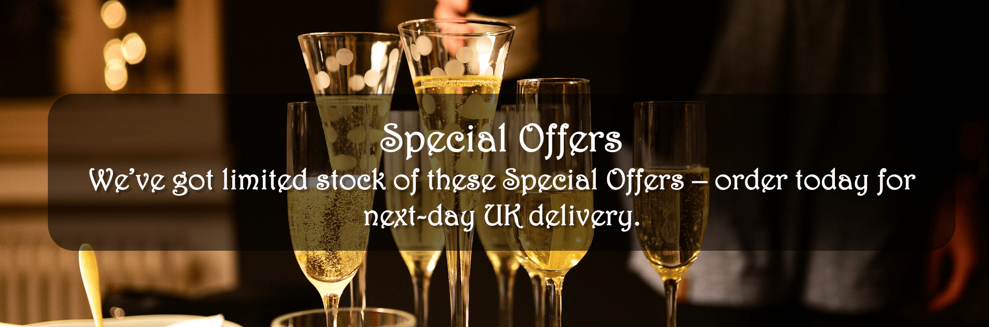 Champagne One Special Offers - next day UK delivery